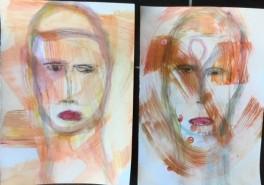 Opdracht vijf 'online class portret painting'