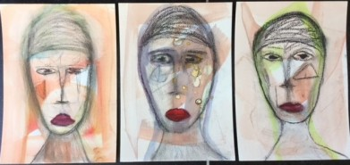 Andere portretjes van opdracht vijf 'online class portrait painting'