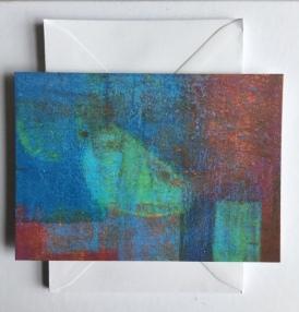 Kaartjes van mijn schilderijen laten drukken.