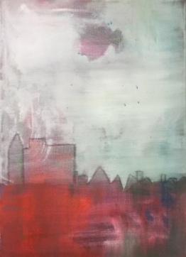 Dit schilderij is zomaar ontstaan. Wat vinden jullie ervan?